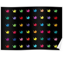 Origami cranes pattern Poster