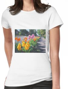 Street Tulips Womens Fitted T-Shirt