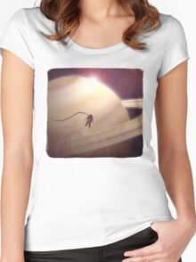 Sunrise From Saturn Women's Fitted Scoop T-Shirt