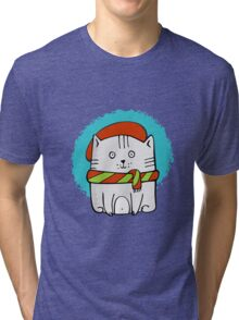 Cute Little Kitty  Tri-blend T-Shirt