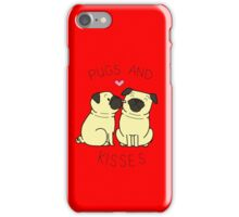 Pugs and Kisses - Red Edition iPhone Case/Skin