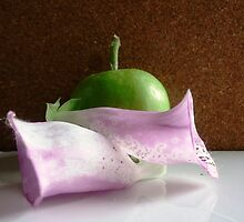 Green Apple and Foxglove . by RedCurrant8