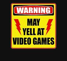 Warning! May yell at videogames. T-Shirt