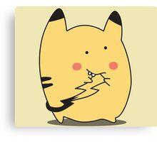 Derpy Pikachu Canvas Print