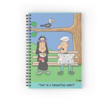 Funny Nun Religion Carttoon Spiral Notebook
