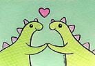 Sweet Stegosaurus Valentine by zoel