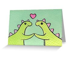 Sweet Stegosaurus Valentine Greeting Card