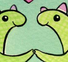 Sweet Stegosaurus Valentine Sticker