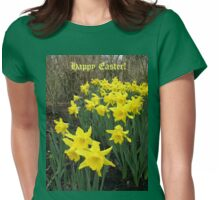 Easter Daffodils - Greeting Card Womens Fitted T-Shirt