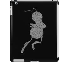 Bee Script Funny iPad Case/Skin