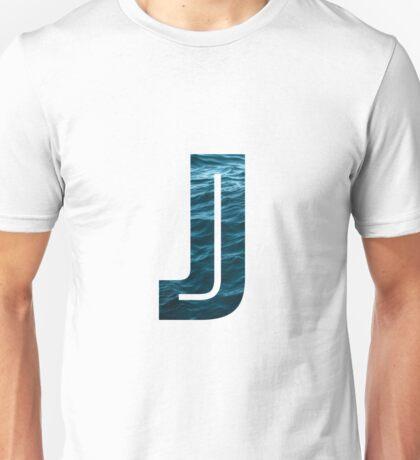"""The Letter """"J"""" Ocean Unisex T-Shirt"""