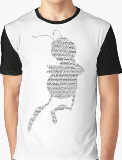 Bee Script Funny - White Graphic T-Shirt