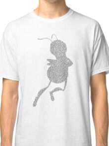 Bee Script Funny - White Classic T-Shirt