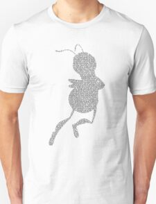 Bee Script Funny - White T-Shirt