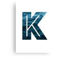 "The Letter ""K"" Ocean Canvas Print"