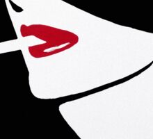 Red Lips, Vintage fashion art, Sophisticated woman Sticker