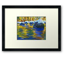 Golden Waters And Stones. Lynn Creek Framed Print