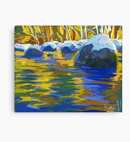 Golden Waters And Stones. Lynn Creek Canvas Print