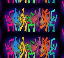 Dancing Stick People by DC-DESIGN