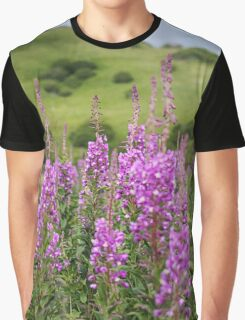 Fireweed on a Mountain Graphic T-Shirt