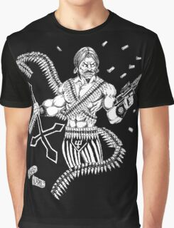 HP Lovecraft's Mad Arab Death Metal Style Graphic T-Shirt