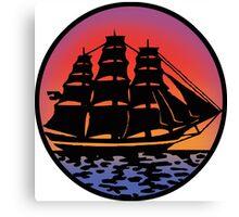Pirate Ship - Color Canvas Print