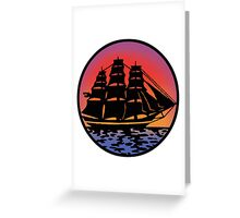 Pirate Ship - Color Greeting Card