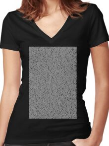Bee Script Black Women's Fitted V-Neck T-Shirt
