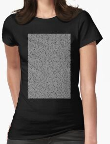 Bee Script Black Womens Fitted T-Shirt