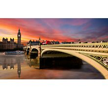 London Sunset Photographic Print