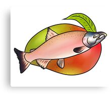 Mango & Fish Canvas Print