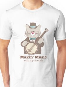 Makin' Music Banjo Cat Unisex T-Shirt