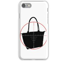 BagNapper Bag Thief Red, Black and White Logo iPhone Case/Skin