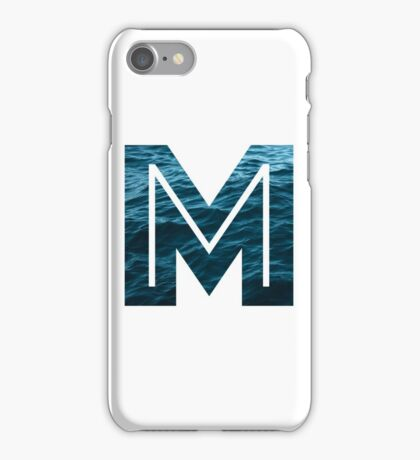 """The Letter """"M"""" Ocean iPhone Case/Skin"""