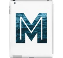 "The Letter ""M"" Ocean iPad Case/Skin"