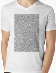 Bee Script White Mens V-Neck T-Shirt