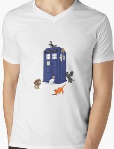 Doctor Who: Cats Mens V-Neck T-Shirt
