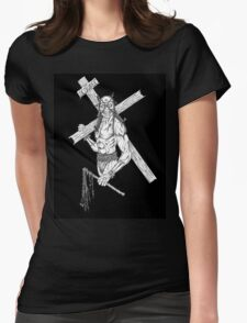 The Scourge Original artwork Black Womens Fitted T-Shirt