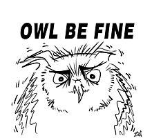 Owl Be Fine - Owl Design Photographic Print