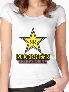 Rockstar Energy Logo Women's Fitted Scoop T-Shirt