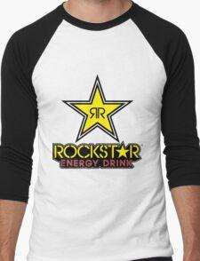 Rockstar Energy Logo Men's Baseball ¾ T-Shirt