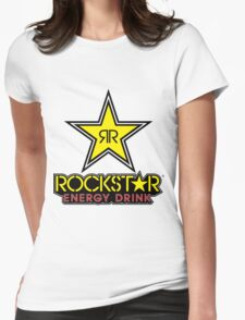 Rockstar Energy Logo Womens Fitted T-Shirt