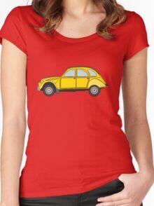 Citroen 2CV Women's Fitted Scoop T-Shirt