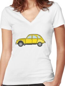 Citroen 2CV Women's Fitted V-Neck T-Shirt