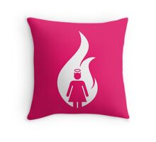 White Devil Womens Room Throw Pillow