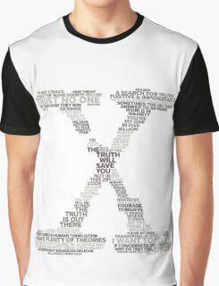 Wisdom of X-Files (Gray) Graphic T-Shirt