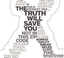 Wisdom of X-Files (Gray) Sticker