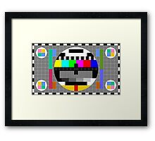 Calibration Test Card, TV monitor film, video geek Framed Print