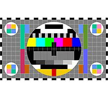 Calibration Test Card, TV monitor film, video geek Photographic Print