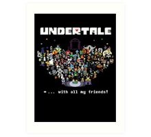 Monster Friends - Undertale Art Print